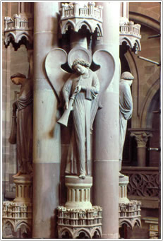 Angels of the Pillar, Strasbourg Cathedral, France