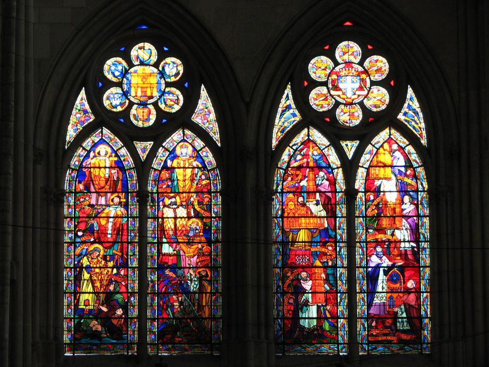 South transept lower lancets 1938 40 saints bishops ch lons en champagne cathedral - Le roi du matelas cambrai ...